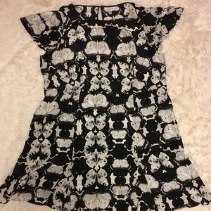 Anna Scholz butterfly print silk dress